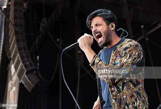 Sameer Gadhia of Young the Giant performs onstage during the 101 WKQX PIQNIQ 2016 at Hollywood Casino Amphitheatre on June 18 2016 in Tinley Park...
