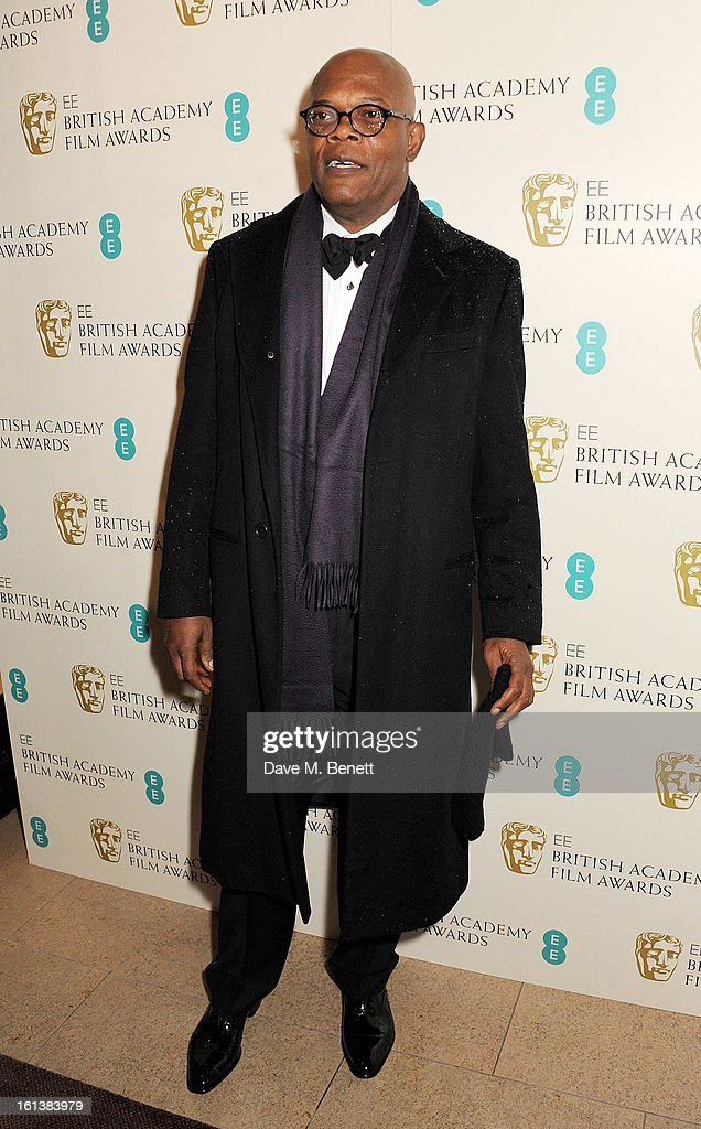 Sameul L. Jackson arrives at the EE British Academy Film Awards at the Royal Opera House on February 10, 2013 in London, England.