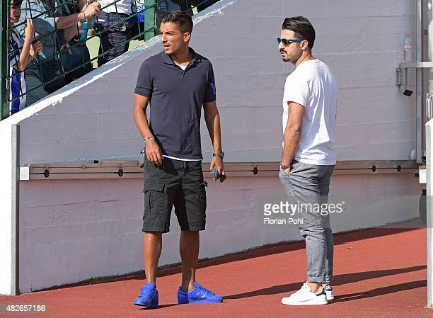 Sami Allagui of Hertha BSC looks on during the game between Hertha BSC and CFC Genua on august 1 2015 in Berlin Germany
