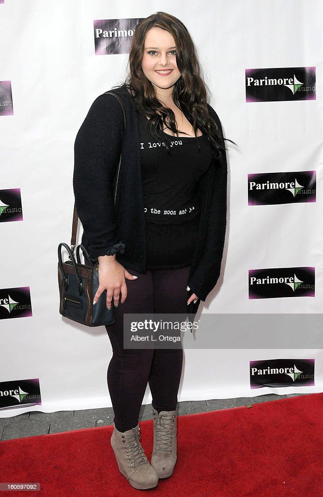 Sami Asher arrives for the All Ages Valentine Bash 2013 held at Infusion Lounge on February 2, 2013 in Universal City, California.