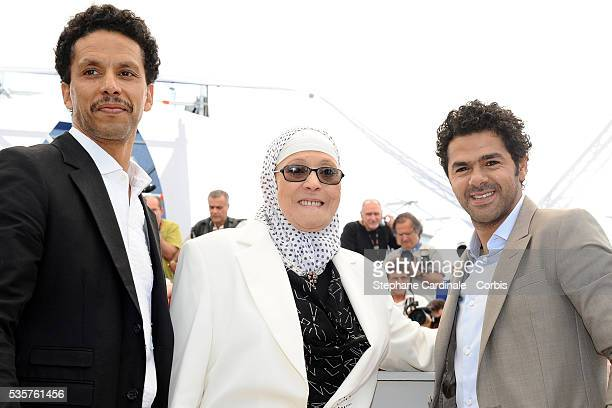 Sami Bouajila Chafia Boudraa and Jamel Debbouze at the photocall for 'Outside of the law' during the 63rd Cannes International Film Festival
