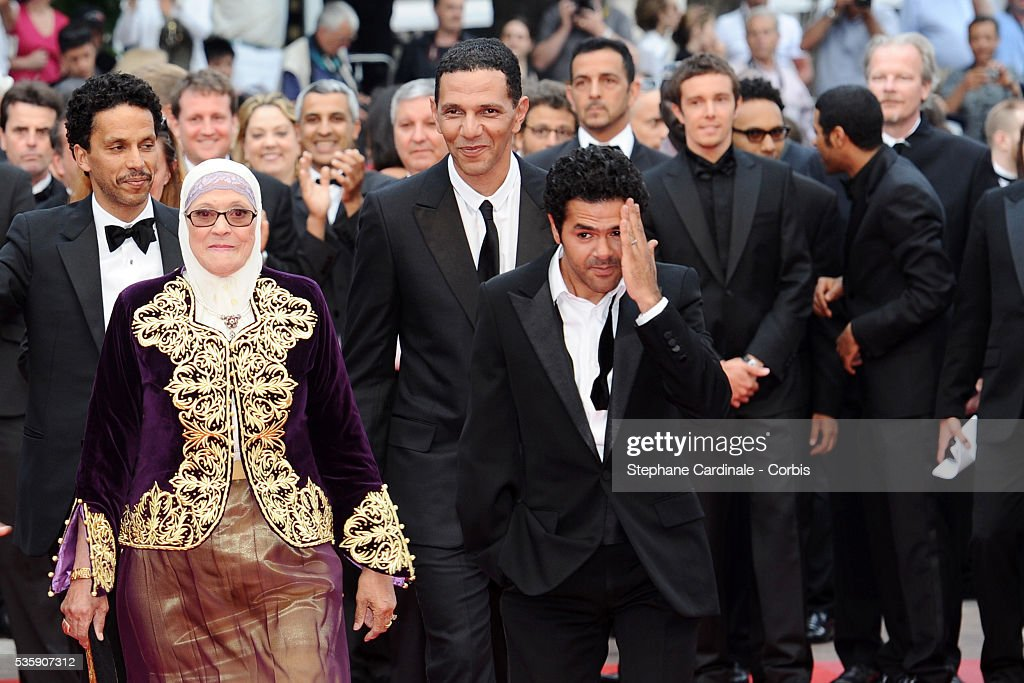 Sami Bouajila, Chafia Boudraa, Roschdy Zem and Jamel Debbouze attend the 'Outside of the law' Premiere during the 63rd Cannes International Film Festival