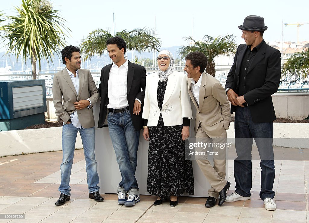 Sami Bouajila, Director Rachid Bouchareb, Chafia Boudraa, Jamel Debbouze and Roschdy Zem attend the 'Outside Of The Law' Photocall at the Palais des Festivals during the 63rd Annual Cannes Film Festival on May 21, 2010 in Cannes, France.