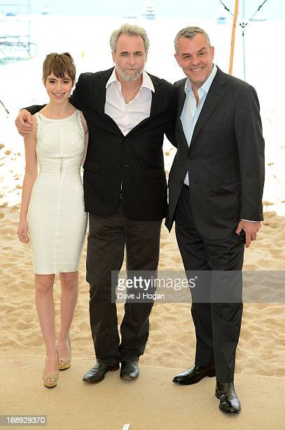 Sami Gayle Ari Folman Danny Huston attend 'Le Congres' photocall during the 66th Annual Cannes Film Festival on May 17 2013 in Cannes France