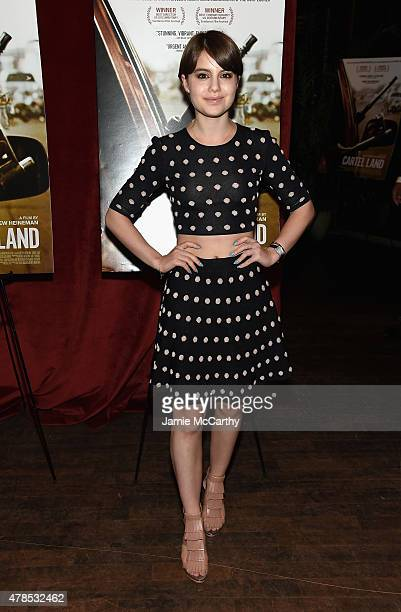 Sami Gayle attends Seth Meyers with the Orchard and the Cinema Society Host a Special Screening of 'Cartel Land' at Tribeca Grand Hotel on June 25...