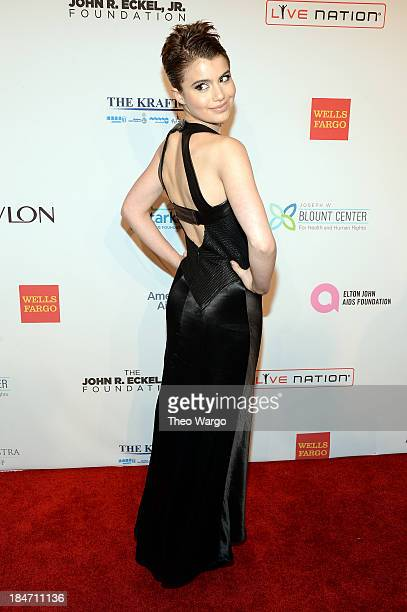 Sami Gayle attends the Elton John AIDS Foundation's 12th Annual An Enduring Vision Benefit at Cipriani Wall Street on October 15 2013 in New York City