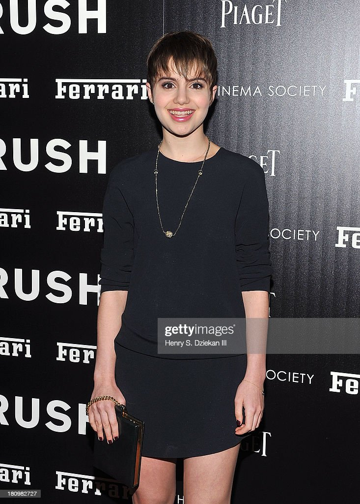 <a gi-track='captionPersonalityLinkClicked' href=/galleries/search?phrase=Sami+Gayle&family=editorial&specificpeople=5053940 ng-click='$event.stopPropagation()'>Sami Gayle</a> attends the Ferrari & The Cinema Society screening of 'Rush' at Chelsea Clearview Cinema on September 18, 2013 in New York City.