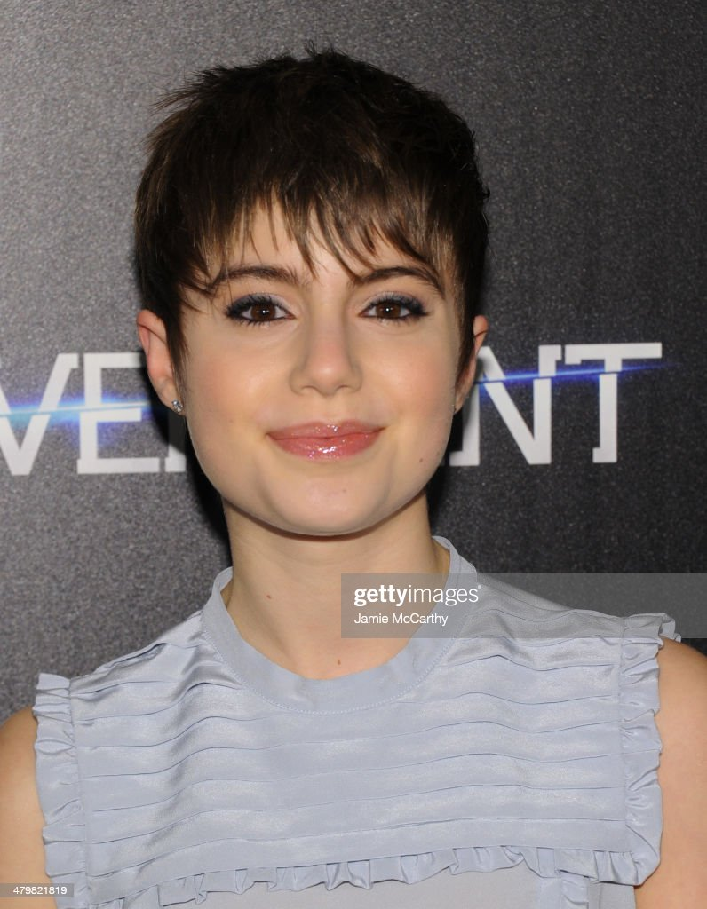 Sami Gayle attends the Marie Claire The Cinema Society screening of Summit Entertainment's 'Divergent' at Hearst Tower on March 20 2014 in New York...