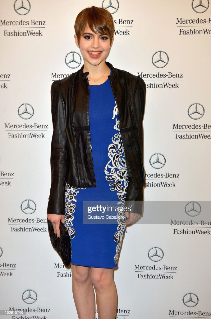 Sami Gayle is seen during Fall 2013 Mercedes-Benz fashion week at Lincoln Center on February 7, 2013 in New York City.