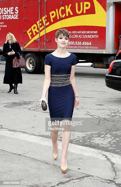 Sami Gayle is seen during MercedesBenz Fashion Week Fall 2014 at Lincoln Center for the Performing Arts on February 8 2014 in New York City