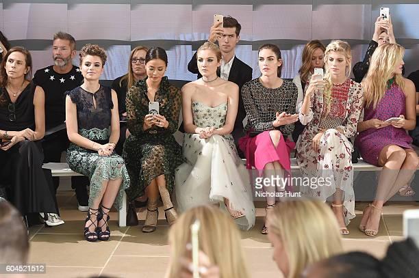 Sami Gayle Jamie Chung Jaime King Devon Windsor and Rachel Hilbert attend the Monique Lhuillier fashion show during New York Fashion Week September...