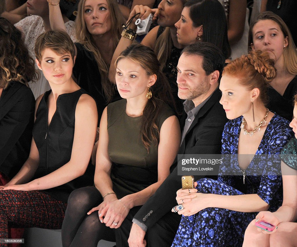 Sami Gayle, Mai-Linh Lofgren, Michael Stuhlbarg and Christiane Seidel attend the Nanette Lepore fashion show during Mercedes-Benz Fashion Week Spring 2014 at The Stage at Lincoln Center on September 11, 2013 in New York City.