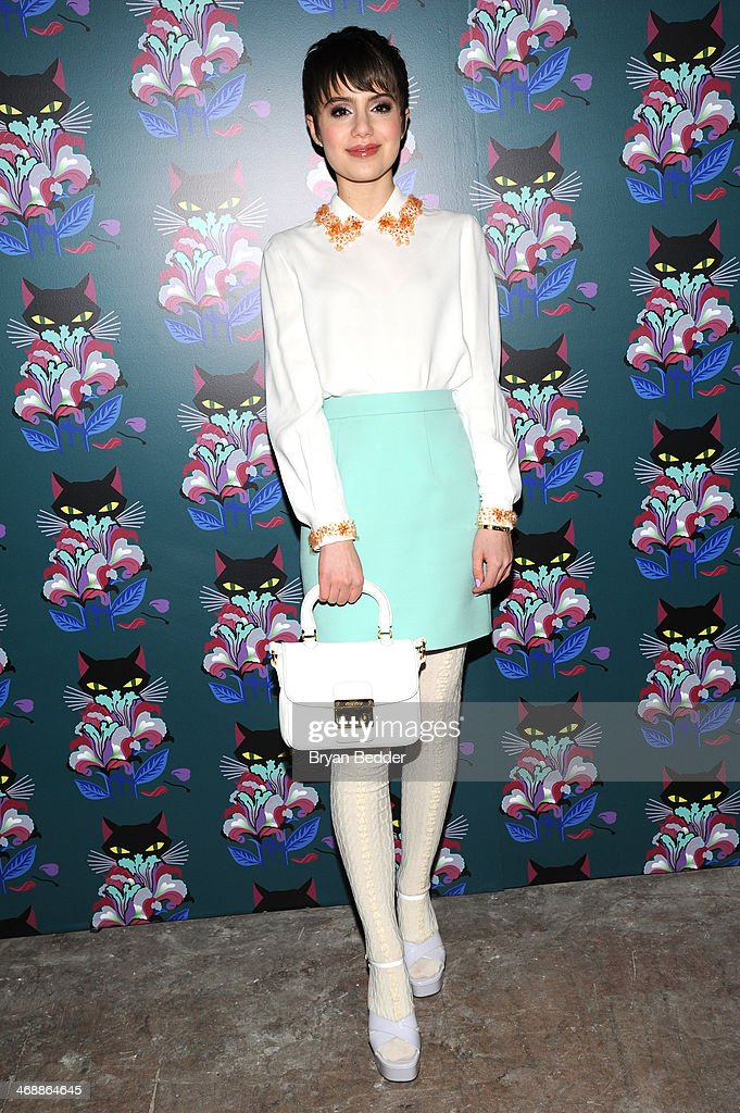 <a gi-track='captionPersonalityLinkClicked' href=/galleries/search?phrase=Sami+Gayle&family=editorial&specificpeople=5053940 ng-click='$event.stopPropagation()'>Sami Gayle</a> wearing Miu Miu at attends Miu Miu Women's Tales 7th Edition - 'Spark & Light' Screening - Arrivals at Diamond Horseshoe on February 11, 2014 in New York City.