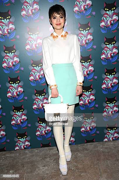 Sami Gayle wearing Miu Miu at attends Miu Miu Women's Tales 7th Edition 'Spark Light' Screening Arrivals at Diamond Horseshoe on February 11 2014 in...