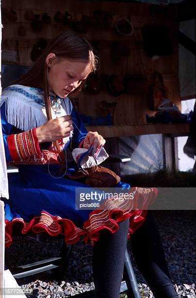 Sami Girl in Lapland