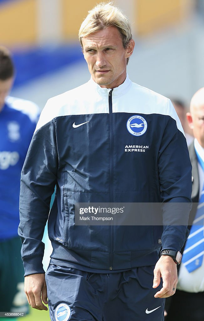 Sami Hyypia the manager of Brighton Hove Albion during the Sky Bet Championship match between Birmingham City and Brighton Hove Albion at St Andrews...