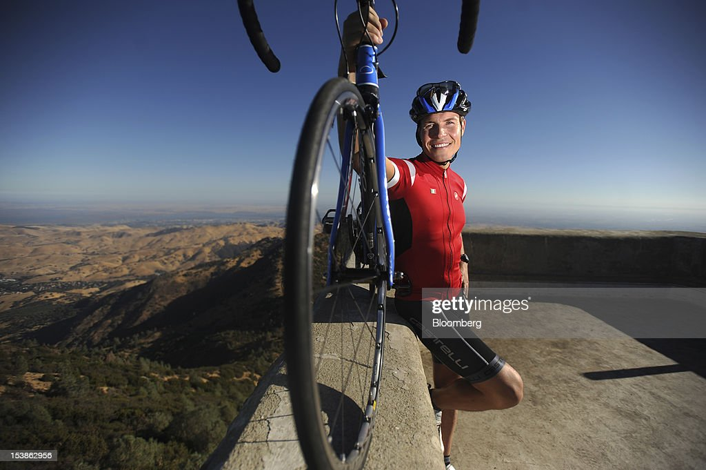 Sami Inkinen, co-founder of Trulia Inc., stands for a photo with his bicycle after completing the Mount Diablo Challenge near Danville, California, U.S., on Sunday, Oct. 7, 2012. Trulia, a rival to Zillow Inc., provides a search engine used by over 20 million people a month to look for homes in specific neighborhoods. Photographer: Noah Berger/Bloomberg via Getty Images