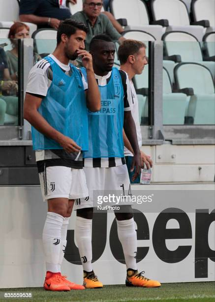 Sami Khedira and Blaise Matuidi during Serie A match between Juventus v Cagliari in Turin on August 19 2017