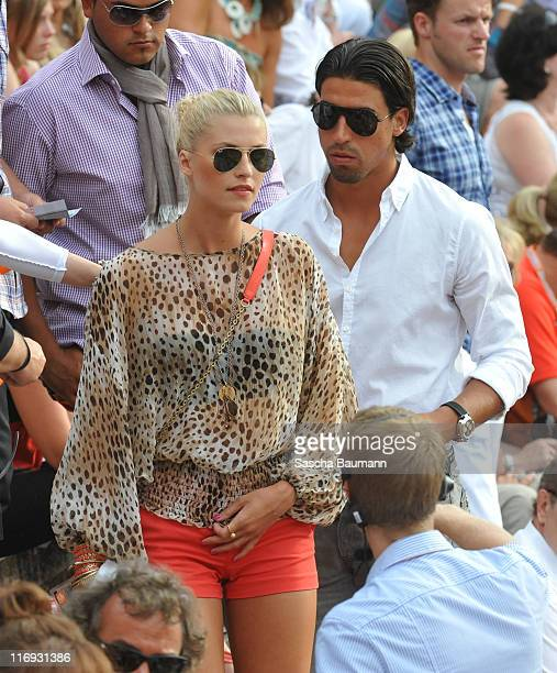 Sami Khedira and his new girlfriend Lena Gercke attend the 'Wetten dass' Summer Edition on June 18 2011 in Palma de Mallorca Spain