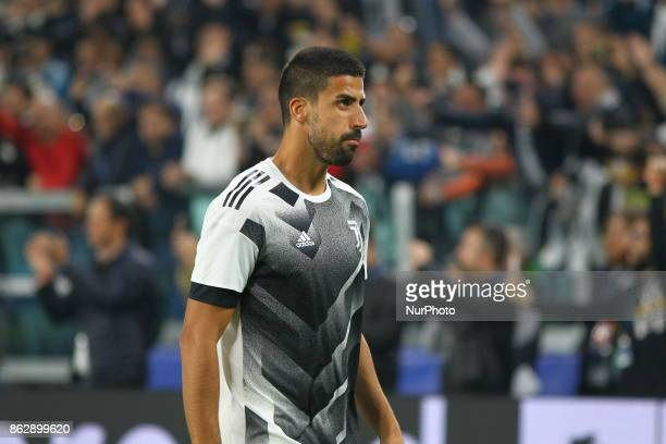 Sami Khedira before the UEFA Champions League football match between Juventus FC and Sporting CP at Allianz Stadium on 18 October 2017 in Turin Italy