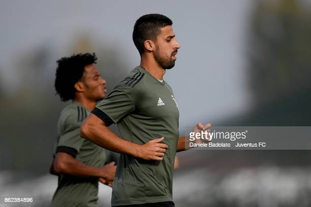 Sami Khedira during a Juventus training session on October 17 2017 in Vinovo Italy