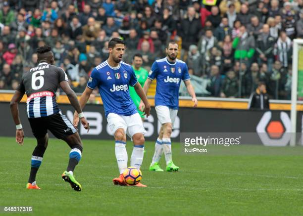 Sami Khedira during Serie A match between Udinese v Juventus in Udine on March 25 2017