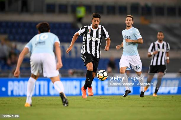 Sami Khedira during the Italian Supercup match between Juventus and SS Lazio at Stadio Olimpico on August 13 2017 in Rome Italy