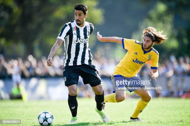 Sami Khedira during the preseason friendly match between Juventus A and Juventus B on August 17 2017 in Villar Perosa Italy