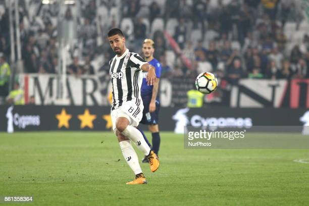 Sami Khedira during the Serie A football match between Juventus FC and SS Lazio at Olympic Allianz Stadium on 14 October 2017 in Turin Italy