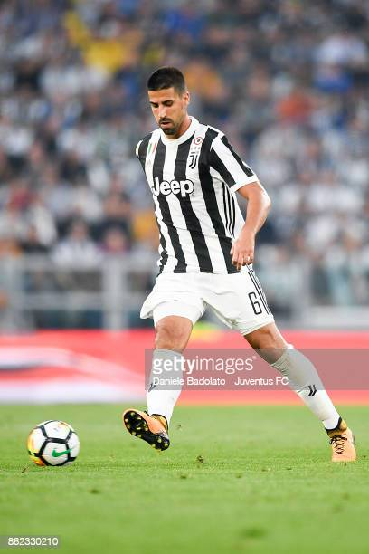 Sami Khedira during the Serie A match between Juventus and SS Lazio on October 14 2017 in Turin Italy
