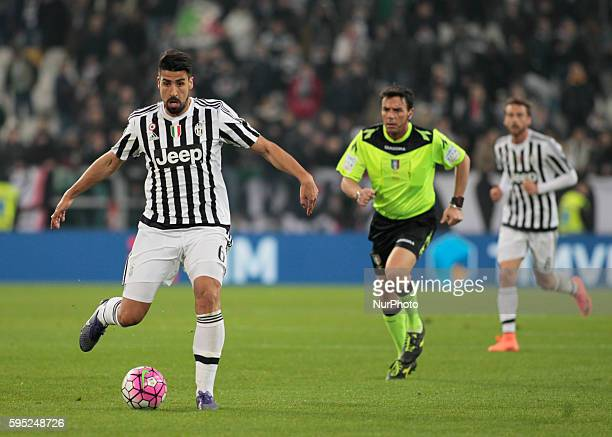 Sami Khedira during the serie A match between Juventus FC and US Sassuolo Calcio at the Juventus Stadium of Turin on march 11 2016 in Torino italy
