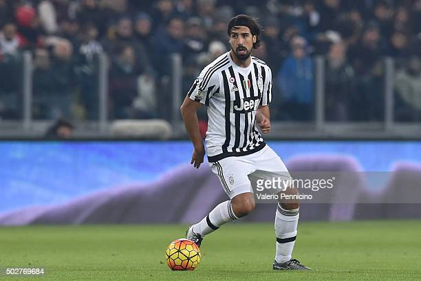 Sami Khedira of FC Juventus in action during the TIM Cup match between FC Juventus and Torino FC at Juventus Arena on December 16 2015 in Turin Italy