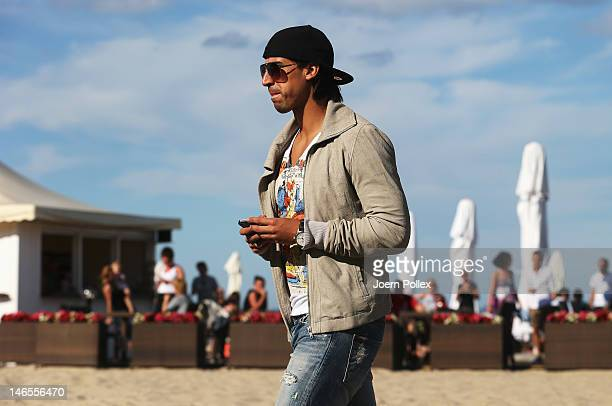 Sami Khedira of German national team is sighted in a beachbar at the beach on June 19 2012 in Sopot Poland