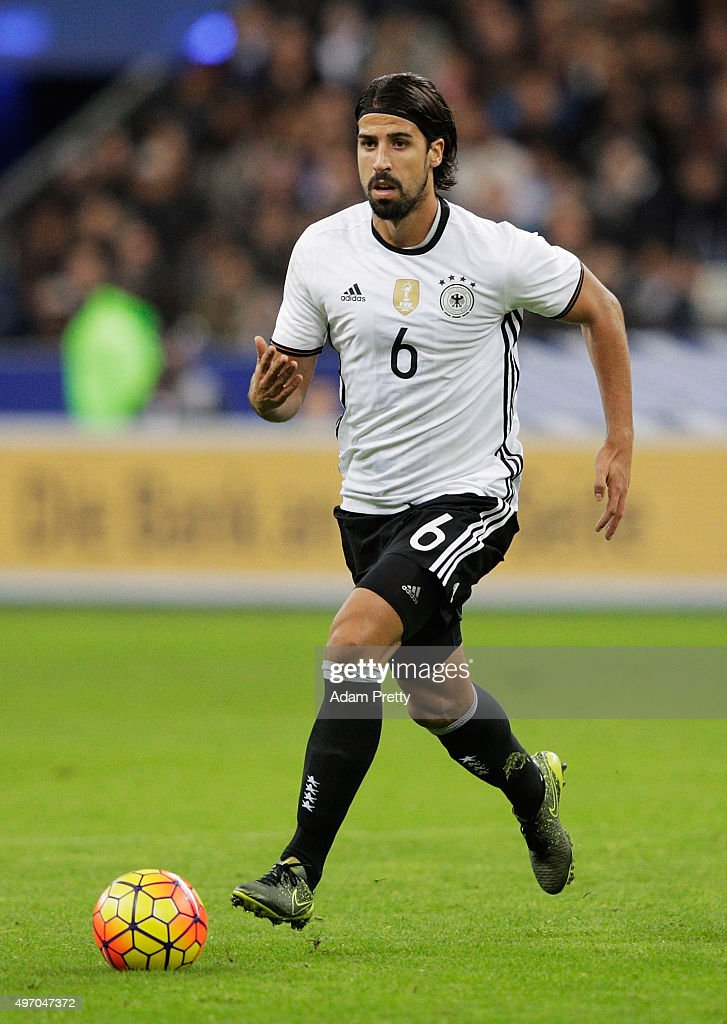 Sami Khedira of Germany in action during the International Friendly match between France and Germany at the Stade de France on November 13 2015 in...