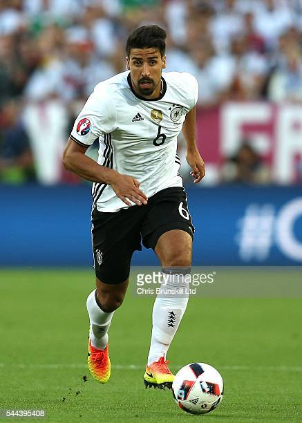 Sami Khedira of Germany in action during the UEFA Euro 2016 Quarter Final match between Germany and Italy at Nouveau Stade de Bordeaux on July 2 2016...