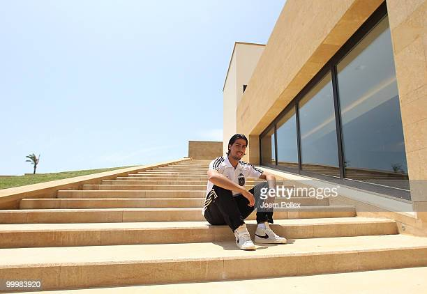 Sami Khedira of Germany is pictured during a press conference at Verdura Golf and Spa Resort on May 19 2010 in Sciacca Italy
