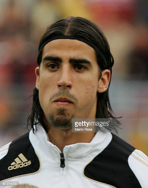 Sami Khedira of Germany poses for a photo prior the U21 international friendly match between Germany and Denmark at the Lohmuehlen stadium on May 28...