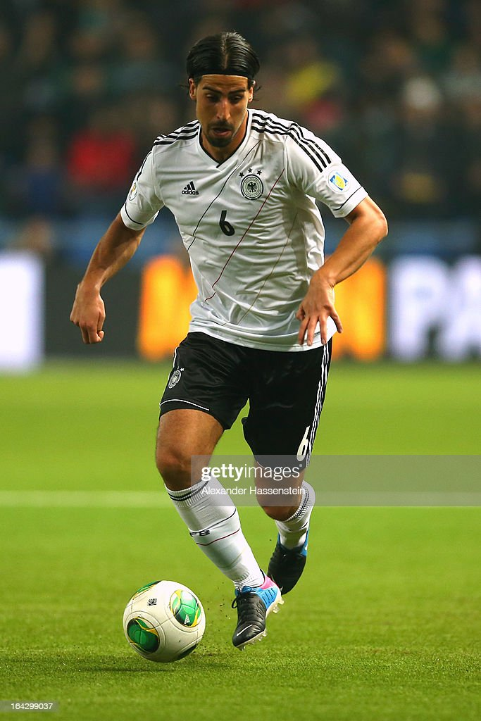 Sami Khedira of Germany runs with the ball during the FIFA 2014 World Cup qualifier group C match between Kazakhstan and Germany at Astana Arena on March 22, 2013 in Astana, Kazakhstan.