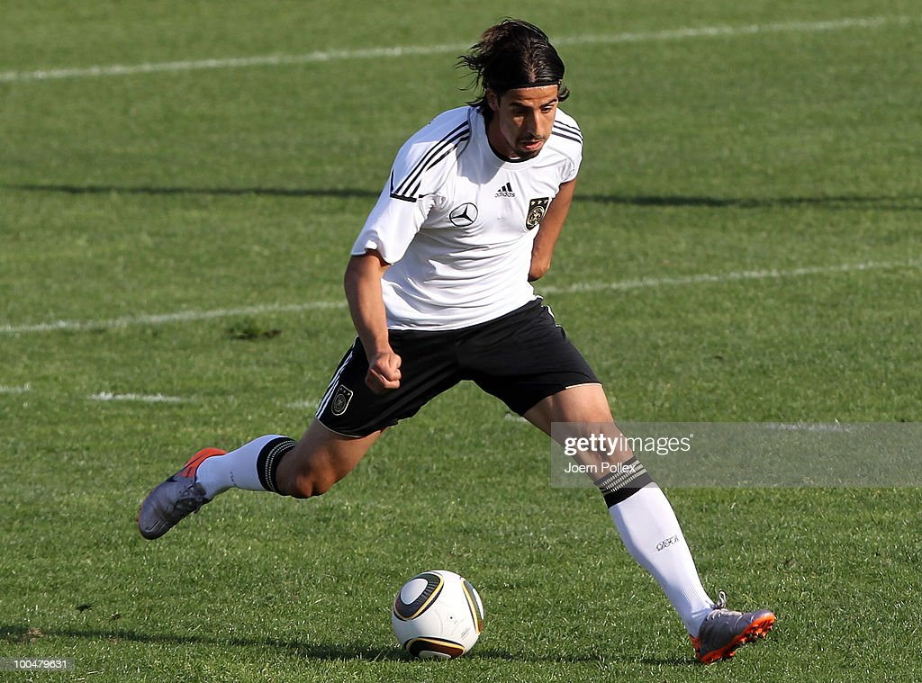 Sami Khedira of Germany runs with the ball during the friendly match of FC South Tyrol and Germany at Sportzone Rungg on May 24, 2010 in Appiano sulla Strada del Vino, Italy.