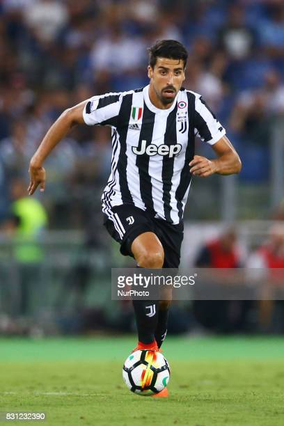 Sami Khedira of Juventus during the Italian Supercup match between Juventus and SS Lazio at Stadio Olimpico on August 13 2017 in Rome Italy
