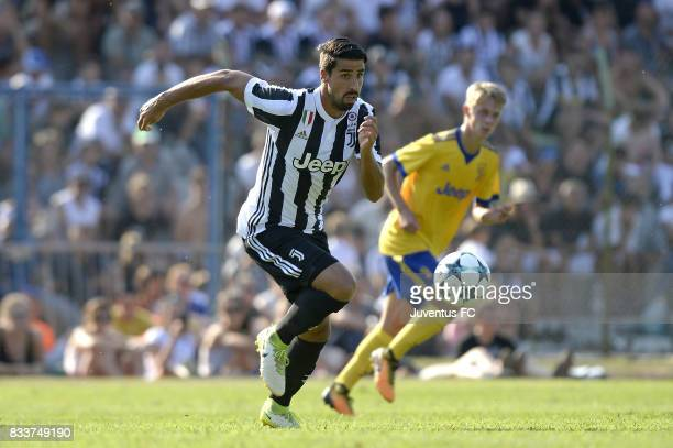 Sami Khedira of Juventus during the preseason friendly match between Juventus A and Juventus B on August 17 2017 in Villar Perosa Italy