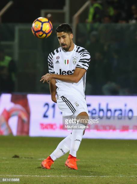 Sami Khedira of Juventus during the Serie A match between FC Crotone and Juventus FC at Stadio Comunale Ezio Scida on February 8 2017 in Crotone Italy
