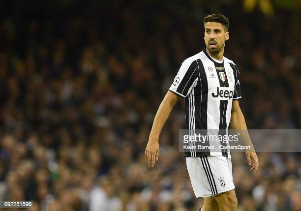 Sami Khedira of Juventus during the UEFA Champions League Final match between Juventus and Real Madrid at National Stadium of Wales on June 3 2017 in...