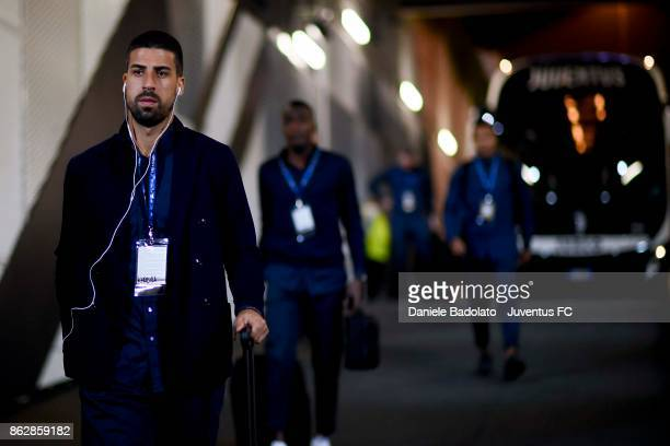 Sami Khedira of Juventus during the UEFA Champions League group D match between Juventus and Sporting CP at Allianz Stadium on October 18 2017 in...