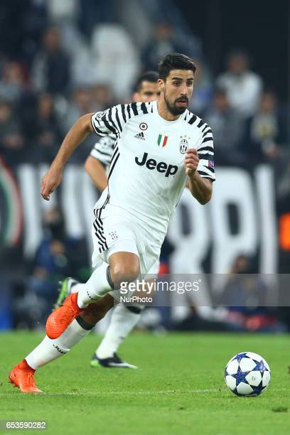 Sami Khedira of Juventus during the UEFA Champions League Round of 16 second leg match between Juventus and FC Porto at Juventus Stadium on March 14...