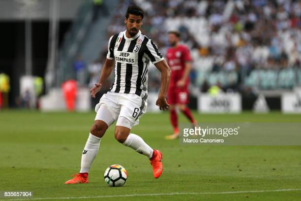 Sami Khedira of Juventus FC in action during the Serie A football match between Juventus FC and Cagliari Calcio Juventus Fc wins 30 over Cagliari...