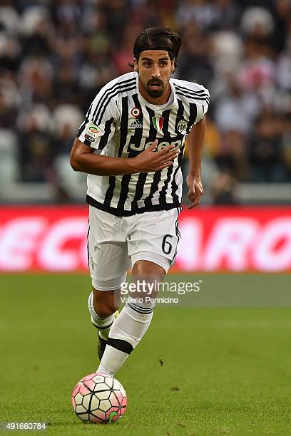 Sami Khedira of Juventus FC in action during the Serie A match between Juventus FC and Bologna FC at Juventus Arena on October 4 2015 in Turin Italy