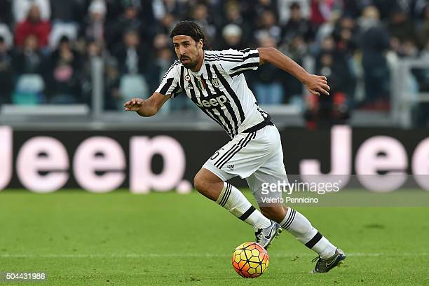 Sami Khedira of Juventus FC in action during the Serie A match between Juventus FC and Hellas Verona FC at Juventus Arena on January 6 2016 in Turin...