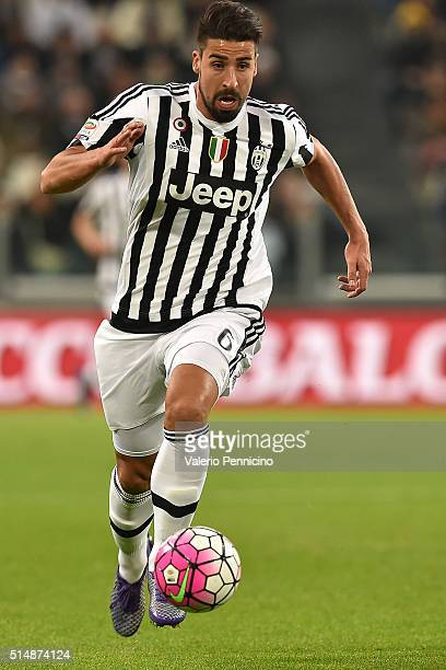Sami Khedira of Juventus FC in action during the Serie A match between Juventus FC and US Sassuolo Calcio at Juventus Arena on March 11 2016 in Turin...