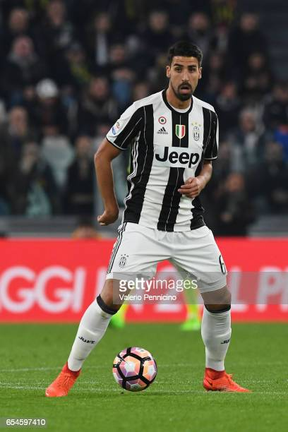 Sami Khedira of Juventus FC in action during the Serie A match between Juventus FC and AC Milan at Juventus Stadium on March 10 2017 in Turin Italy